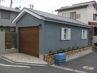 ウッディガレージシャッター施工例 東京都N様邸